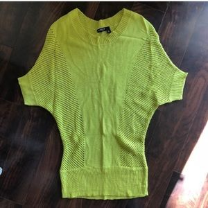 Allen B :: chartreuse batwing sweater